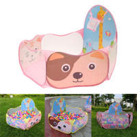 Wholesale New Foldable Outdoor Indoor Kids Game House Play Children Baby Kids Toy Tent Portable Ocean Ball Pit Pool Pop up Play Tents