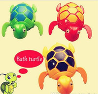 Wholesale Swimming Tuetles toy Pool Animal toys Wind Up Bath Diver Plastic Turtle Baby Bath Toys Kids Wind up Toys