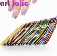 Wholesale Striping Tape Line Nail Art Sticker Decoration DIY Decals UV Gel Acrylic Nail Tips