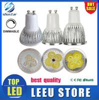 Wholesale Spot 12v Led 6w Mr16 - best quality CREE Led Lamp 3W 4W 5W 6w Dimmable GU10 MR16 E27 E14 GU5.3 B22 Led spot Light bulbs Spotlight bulb downlight lighting