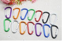 Non-Locking Carabiners big clip rings - Carabiner Ring Keyrings Key Chain Outdoor Sports Camp Snap Clip Hook Keychain Hiking Aluminum Metal Stainless Steel Hiking Camping free ship