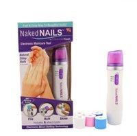 Wholesale Naked nails Trimming Kit Electric Salon Shaper Manicure Pedicure Set Kit Automatic Nail Polish Tools No Batteries