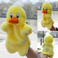 Wholesale New Kids Lovely Animal Plush Hand Puppets Childhood Soft Toy Duck Shape Story Pretend Playing Dolls Gift For Children