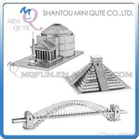 architecture toys - DHL Piece Fun D World architecture pyramids Pantheon in Rome Sydney Harbour Bridge Metal Puzzle adult models educational toy
