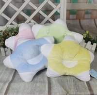 Wholesale Stars Baby Pillow Infant Sleep Shape Toddler Positioner Anti Roll Cushion Flat Bebe Head Pillow Protection of Children