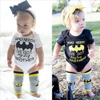 baby big brother - 2017 INS summer letter baby girl rompers jumpsuits high quality fashion cute newborn Onesies Who Needs Batman I ve Got My Big Brother