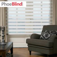 Wholesale Solid single color zebra roller blinds with luxury cassette