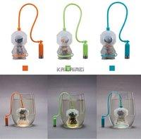Wholesale 50pcs Deep Tea Diver Tea Infuser Cute Scuba Diving Loose Leaf Silicone Mug Cup Strainer Filter