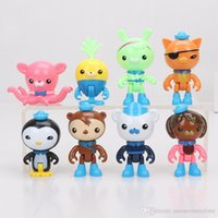 Wholesale 800sets Anime Octonauts captain Barnacles figure Peso Shellington Dashi Tweak mini figures doll toys good kids toy