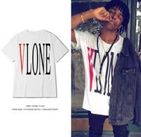 Unisex cotton Print Summer Style Men Women Vlone T Shirt asap rocky 3125C t-shirt Hip Hop Street Short Sleeve Top Tees off white sport tshirts
