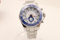 achat en gros de ceintures de montres en gros-Vente en gros - Marque de luxe Blue Dail CERAMIC Bezel Stainless Steel Belt Hommes Blue Stainless Pointer Montres Mens Fashion Wrist Watchese