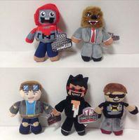 Precio de Superhéroes juguetes de peluche-TUBE HEROES TDM Muñecas de peluche 18 cm Figuras de dibujos animados de peluche muñecos de peluche Muñecas de película SkY TDM Super Wolf Juguete de hombre de negocios KKA645