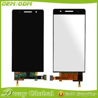 achat en gros de huawei ascend p6 rose-Vente en gros-Noir / Blanc / Rose Pour Huawei P6 écran LCD + écran tactile NOUVEAU remplacement du panneau de verre de numériseur pour Huawei Ascend P6 4.7 ''