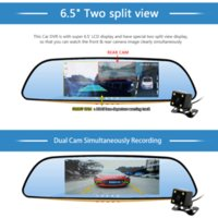 Wholesale Junsun quot IPS Car DVR Camera Mirror with LDWS ADAS Dual Lens FHD P Video Recorder Dash Cam Parking Monitor Auto Camera