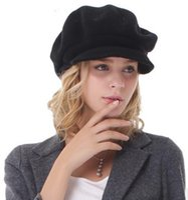 achat en gros de jeunes femmes chapeaux mode-2016 nouveau style autum femmes d'hiver garder chaleureux chapeaux jeune mode populaire laine décontractée pointe chapeau