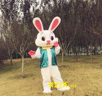 Wholesale Easter Bunny Mascot Costume Fancy Party Dress Suit