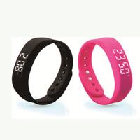al por mayor niños reloj de la jalea-Simple Smart Wrist Band ultra fino Podómetro Deportes Relojes para las mujeres Señoras Digital Watch Jalea Color Smart Wristband T5