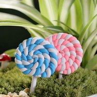 Wholesale 1 DIY Accessories Fairy World Decoration Miniature Cute lollipops Ornaments Accessories Fairy Garden landscape Decoration