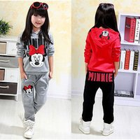 baby sweatsuit - Baby Girl boy Kids cartoon sports Clothes set Hoodied Coat tops Pants Sweatsuit Girl Spring Fall Outfits Tracksuit suit