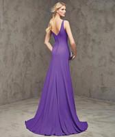 Vestidos de noche formales largos elegantes largos elegantes púrpuras atractivos de Satin de Karin de la tolerancia