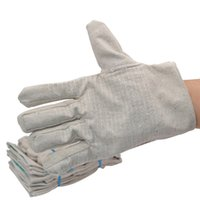 Wholesale High temperature anti scald gloves thick canvas industrial safety gloves anti wear non slip anti sweat