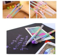 Wholesale Cute Design Ink Colors Highlighter Pen Marker Stationery Point Pen Colorful Writing Supplies