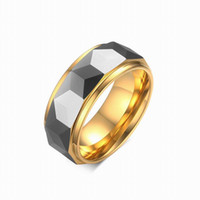 Asian & East Indian banded onyx - Top Quality vintage Gothic Big MM Black Rings New design Onyx Tungsten Steel Carbide Rings for men Jewelry gift