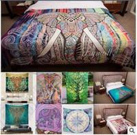 Wholesale 21 Designs cm Bohemian Mandala Beach Tapestry Hippie Throw Yoga Mat Towel Indian Polyester Beach Shawl Bath Towel LJJC5333
