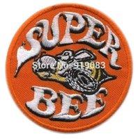 bee transfers - 3 quot Hot Rod Patch Super Bee Badge Drag Race Muscle Classic Car Jacket Halloween MC Biker Vest iron on transfer