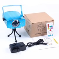 Wholesale US Plug Remote W RGB LED Water Wave Ripple Effect Stage Light lighting Laser Projector with Mini Tripod for Party Show