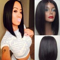Wholesale top quality bob style wig simulation Human hair full wig in stock
