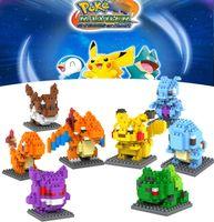 Wholesale Poke Diamond Building Blocks Pikachu Figure Model Toys Mewtwochild Child Christmas Gift Loz Anime Building Blocks