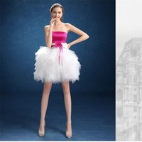 Wholesale 2016 Sweety ball gown short graduation party dresses sexy strapless tiered bow bandage organza Prom Formal Evening Gowns cheap party dress