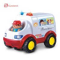 ambulance bus - 0 years baby educational children car toy styling ambulance doctor model electric toy car remote control with light and music