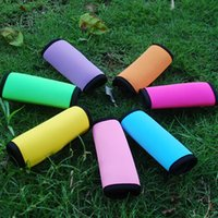 Wholesale Neoprene Luggage Handle Wraps Blanks Colorful Monogrammable Handle Covers Keep Your Bag Different Gift for school Kids DOM106282