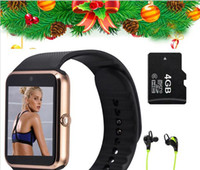 Wholesale Hot Smart Watch GT08 Clock Sync Notifier support SIM TF Card Connectivity Apple iphone Android Phone Smartwatch PK dz09 u8 gd19