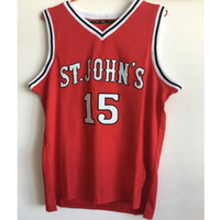 Wholesale Ron Artest St Johns University Basketball Jerseys Red White Retro Throwback Stitched Shirt Custom any Number Name and Size XXS XL