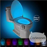 Wholesale High Quality Colors Body Sensing Automatic LED Motion Sensor Toilet Bowl Night Light Toilet LED