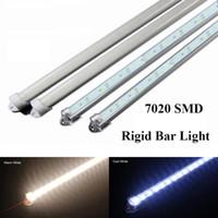 Wholesale 50cm LED Hard Bar Light SMD Bright LED Rigid Light Strip with Aluminum pc Cover Lighting Tube White Warm White
