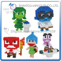 american educational toys - DHL Mini Qute Lele brother American cartoon kawaii Inside Out plastic building block brick model Action Figure educational toy