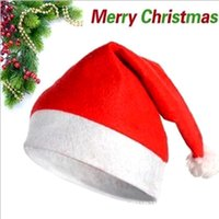 Wholesale 2016 Fashion Nonwovens New Year Decoration Caps Christmas Children And Adult Christmas Gifts Cheapest Christmas Cap Santa Claus Hats