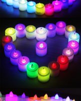 Wholesale Romance Flameless Lead Candle Pillar LED Lantern Pieces a box Christmas Cake Decoration