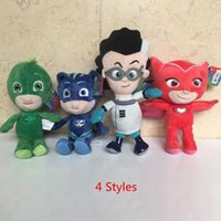 Wholesale New Hot EMS Set quot quot Remeo Gekko Owlette Catboy Dolls Kid s Birthday Gifts Children Party Soft Stuffed Plush Toys