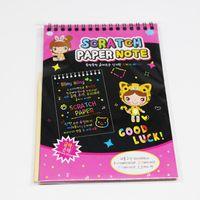 Wholesale 2017 new drawing book write DIY graffiti magic sketch black cardboard book school supplies educational toys for children