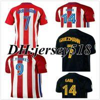 Wholesale 16 Atleticos KOKE GABI jersey GRIEZMANN Fernando Torres HOME RED F TORRES AWAY GODIN CUSTOM Madrides Jerseys