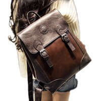 Wholesale 2017 backpacks women backpack PU school bags students backpack ladies women s travel bags leather package College Wind Bag