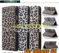 al por mayor iphone caja del silicio de leopardo-Para el caso de cuero de Iphone 6s Caso del silicón del estilo de la impresión del leopardo para el borde de Samsung S6 más la caja de la carpeta para la nota 5 de Samsung Paquete de 50pcs Opp