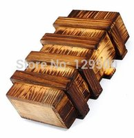 Wholesale Wood puzzle box props for escape mysterious room Real life escape room game prop