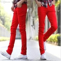 Red Skinny Jeans Male Price Comparison | Buy Cheapest Red Skinny ...
