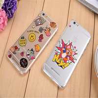 apples tom - Cartoon Tom and Jerry Soft TPU transparent Case Cover for iPhone s sPlus Free DHL